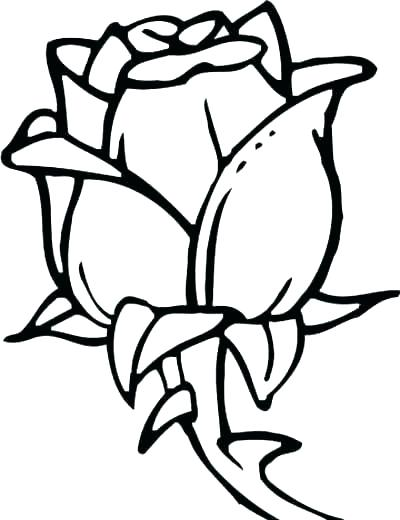 400x520 Big Flower Coloring Pages