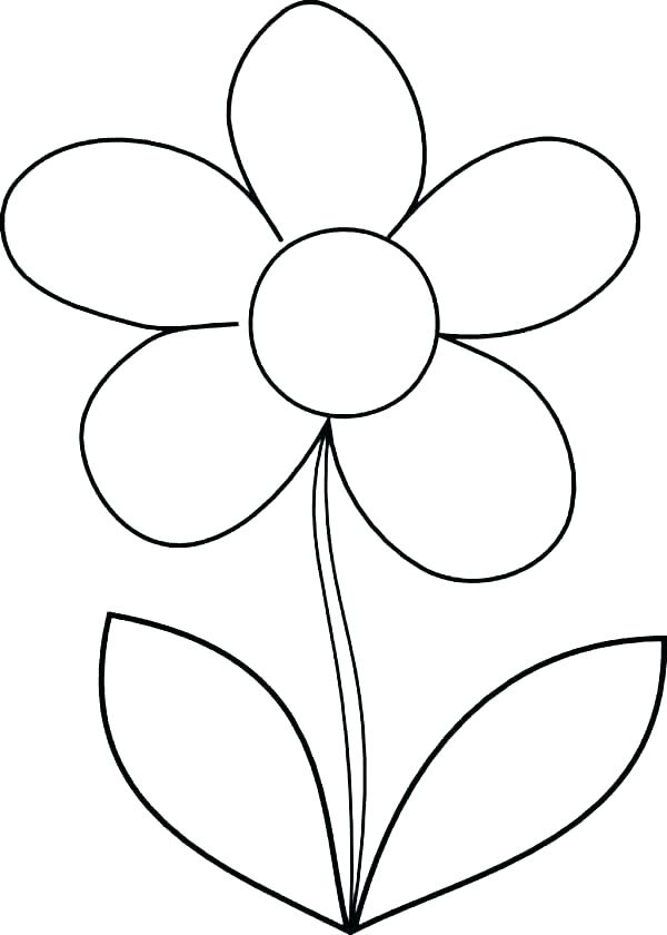 600x840 Big Flower Coloring Pages