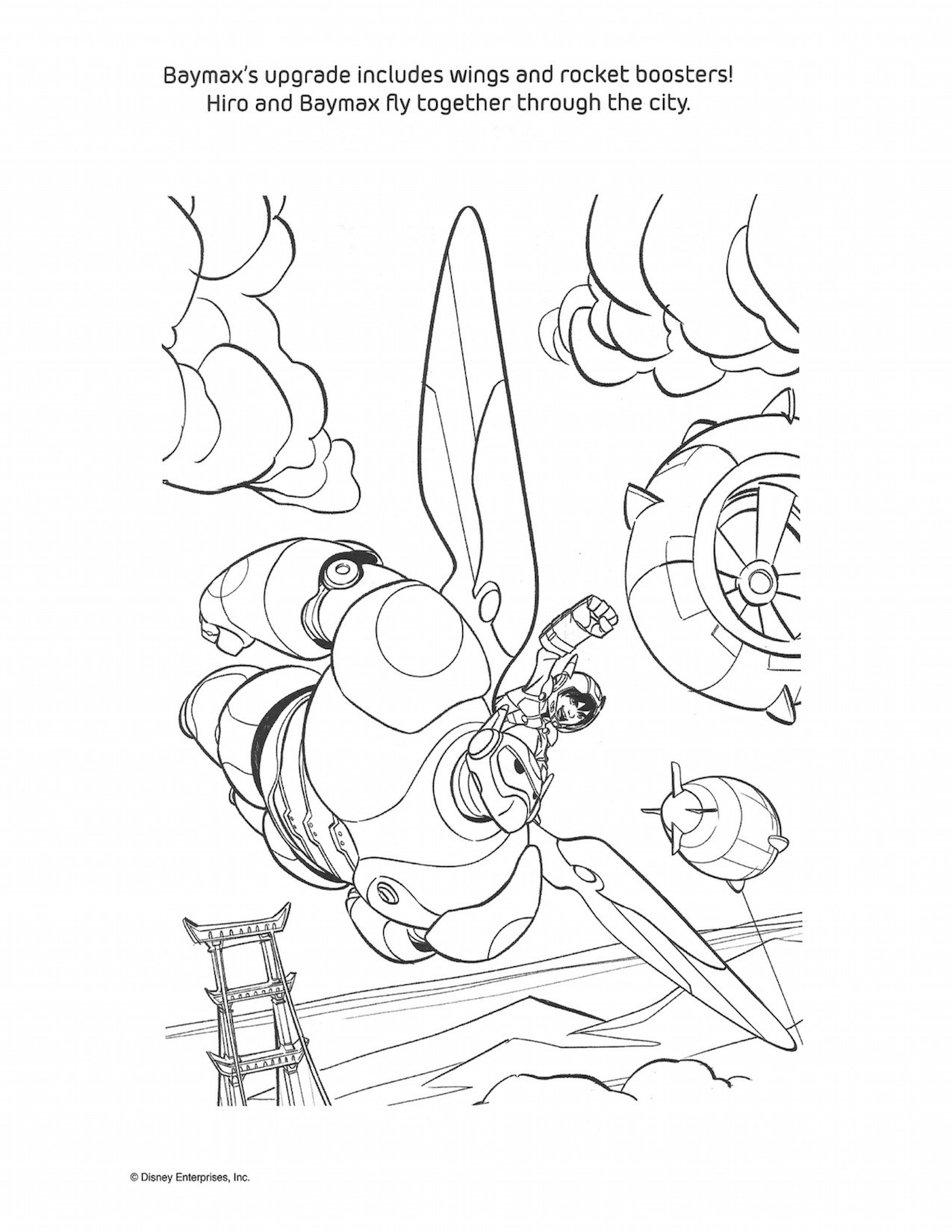 1275x1650 Big Hero Coloring Pages And Activity Sheets