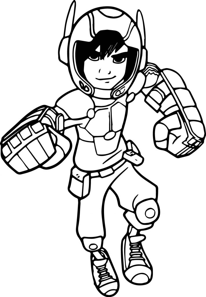 711x1024 Awesome Big Hero Coloring Pages For Kids