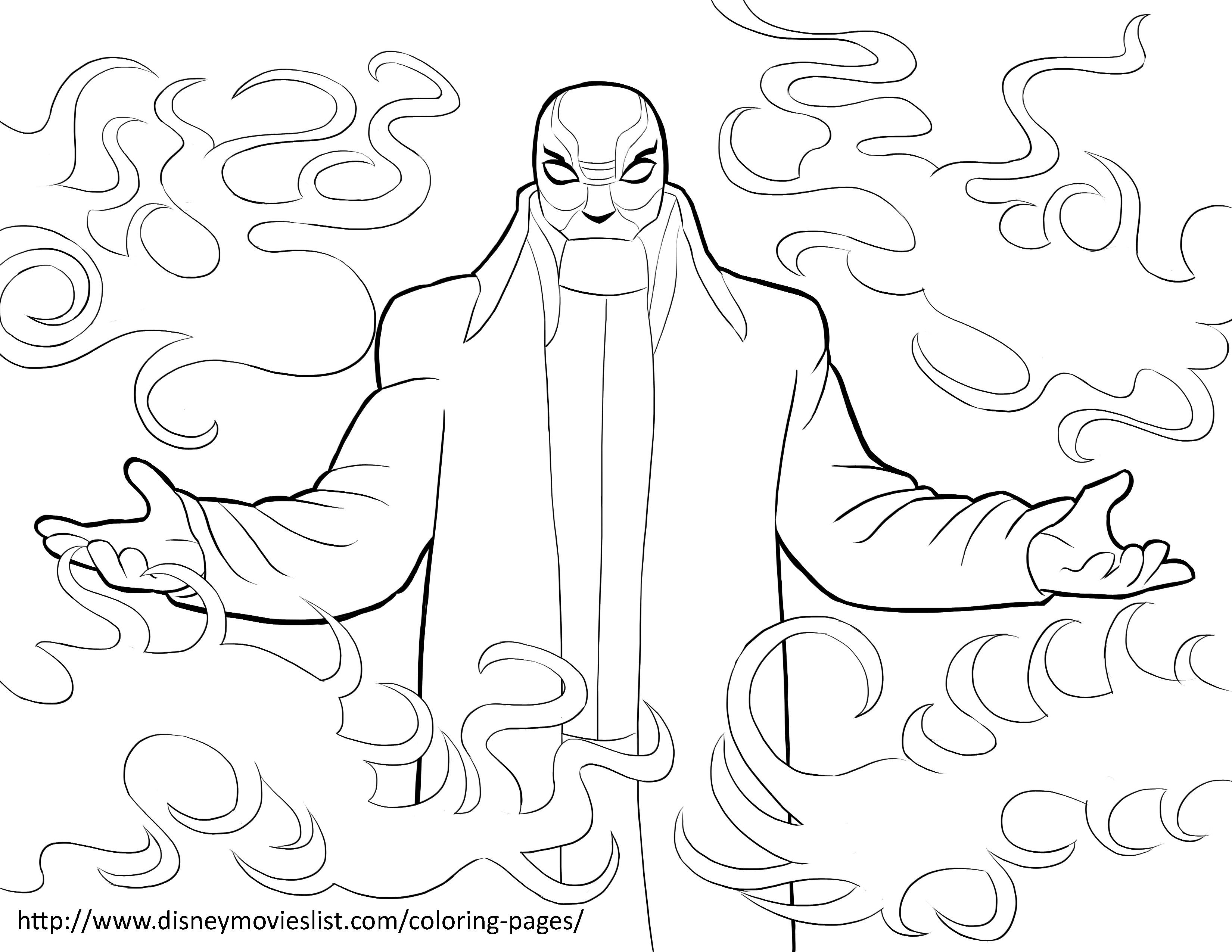 3300x2550 Yokai Printable Coloring Pages Big Hero