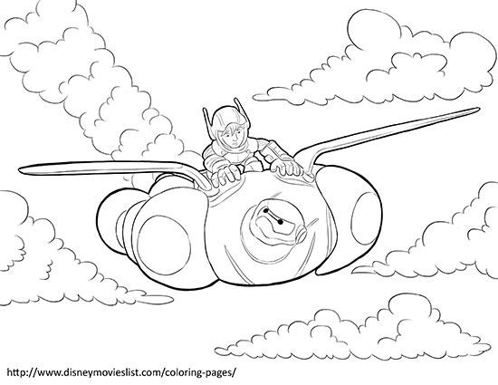 550x425 Free Big Hero Coloring Pages Printable Printable Coloring