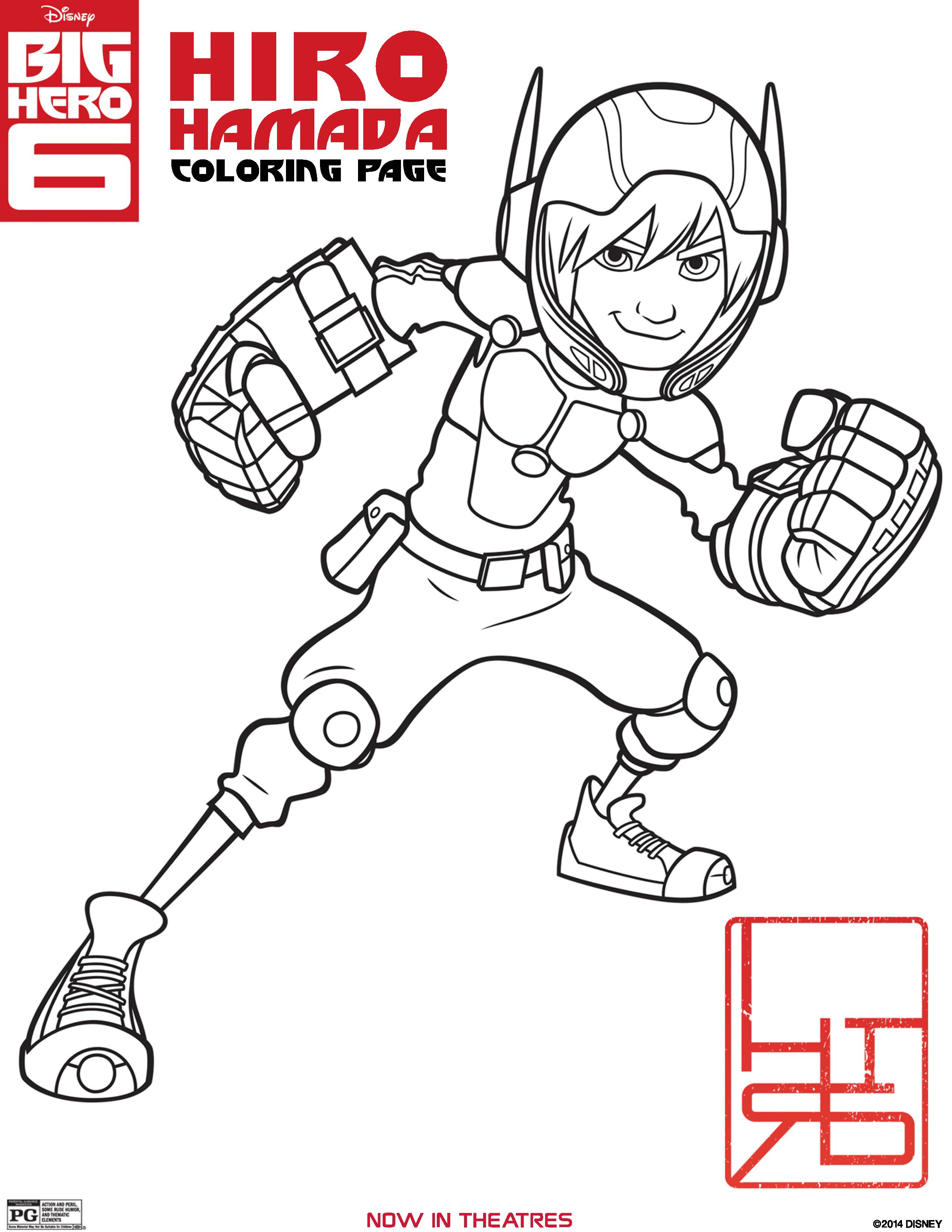 2550x3300 Big Hero Coloring Pages, Activity Sheets, And Printables
