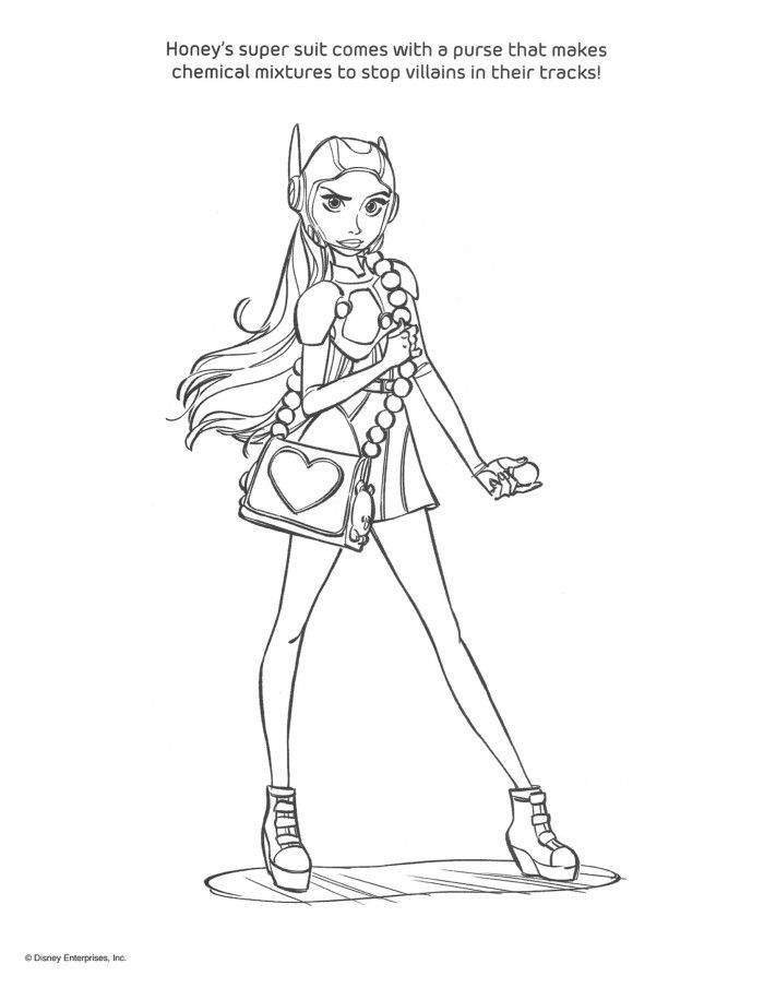 700x905 Big Hero Coloring Pages And Activity Sheets