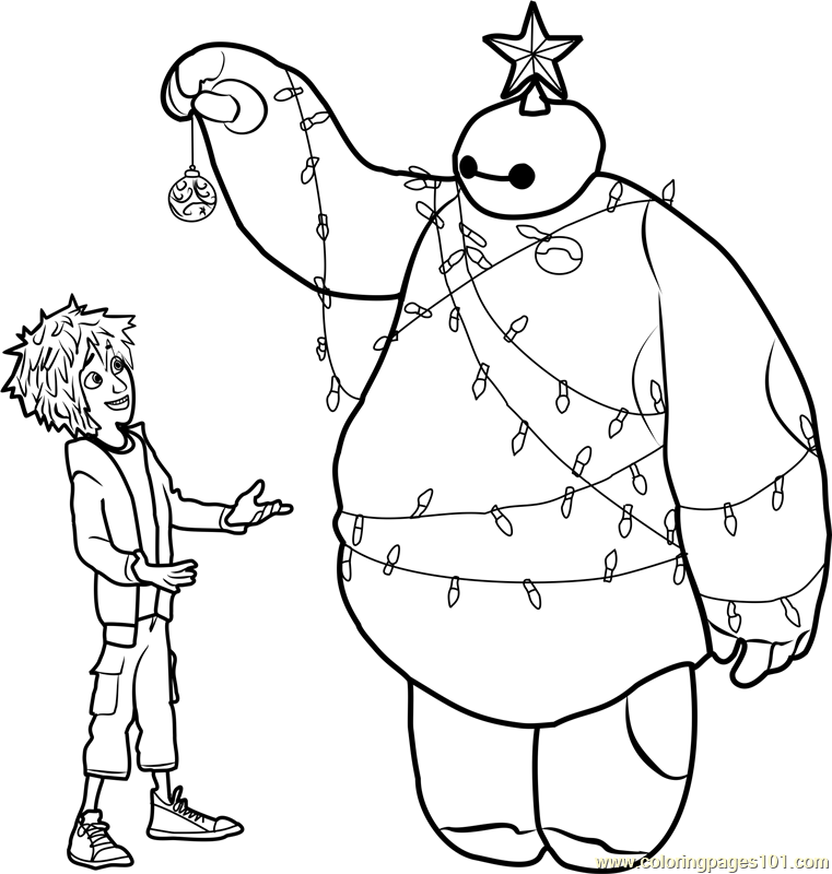 761x800 Big Hero Coloring Pages Color Bros