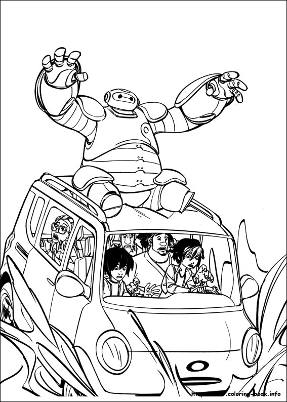 567x794 Big Hero Coloring Picture