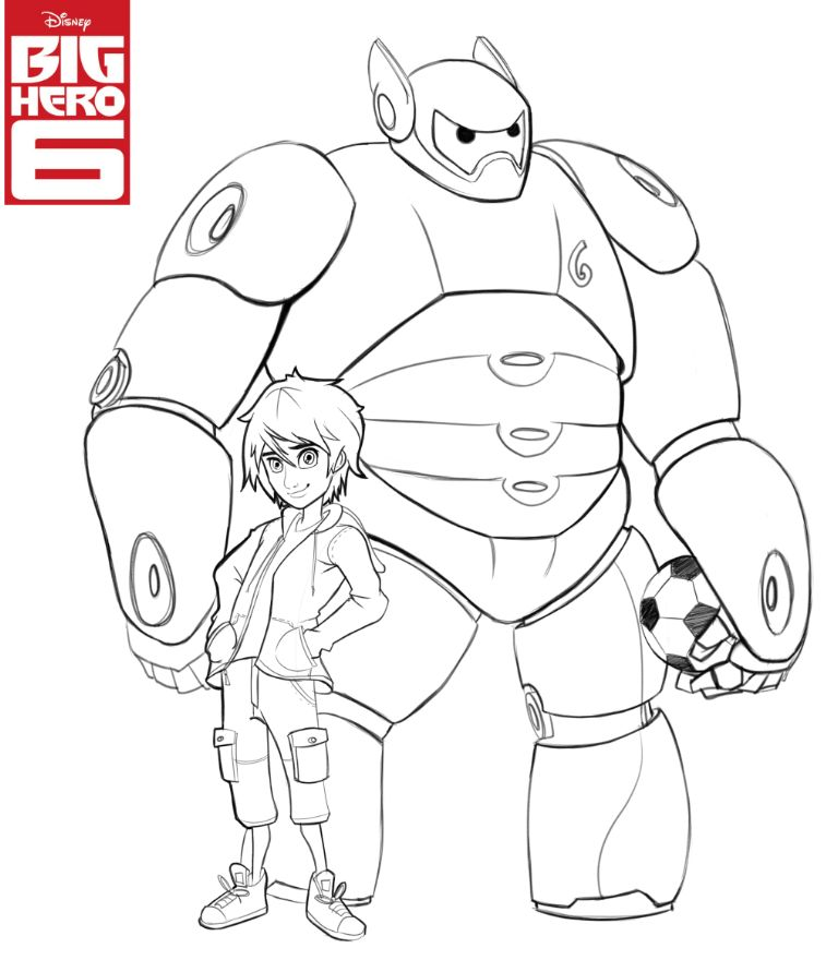 757x880 Disney's Big Hero Coloring Pages