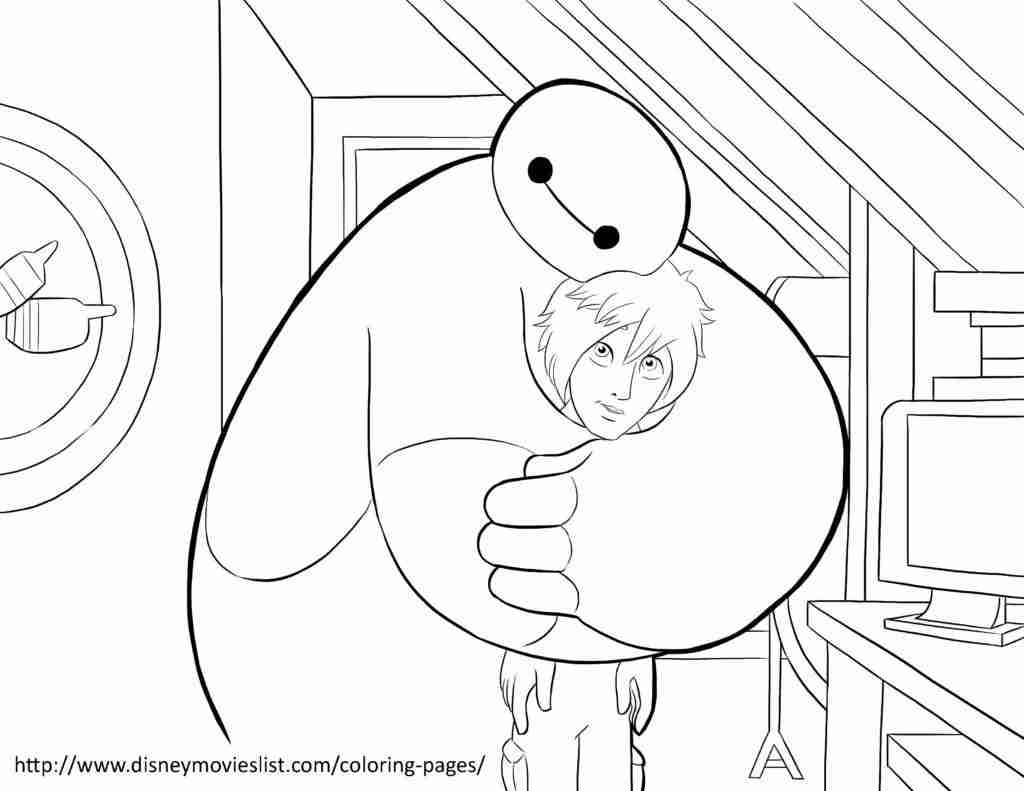 1024x791 Disney S Big Hero Coloring Pages Sheet Free Printable