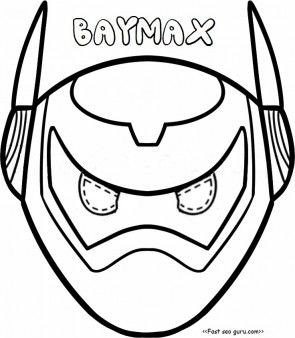 295x338 Printable Big Hero Baymax Armor Mask Coloring Pages Cut Out