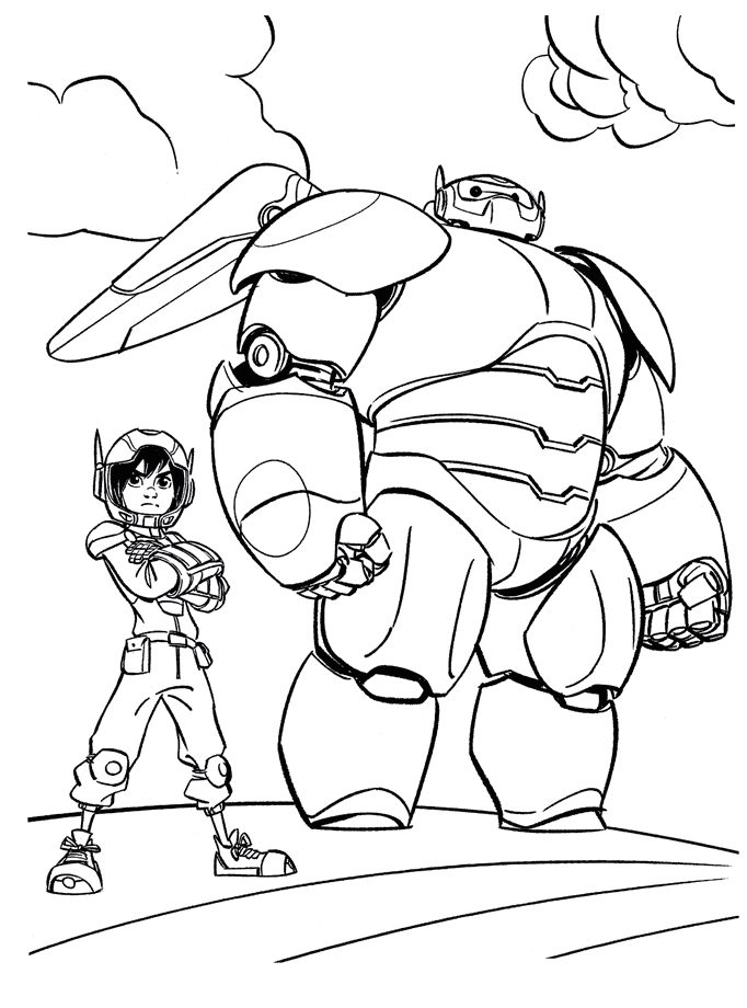 682x920 Top Big Hero Coloring Pages Baymax, Hero And Fans