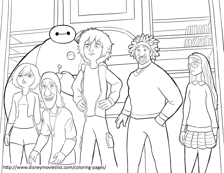 736x568 Free Printable Coloring Pages Big Hero