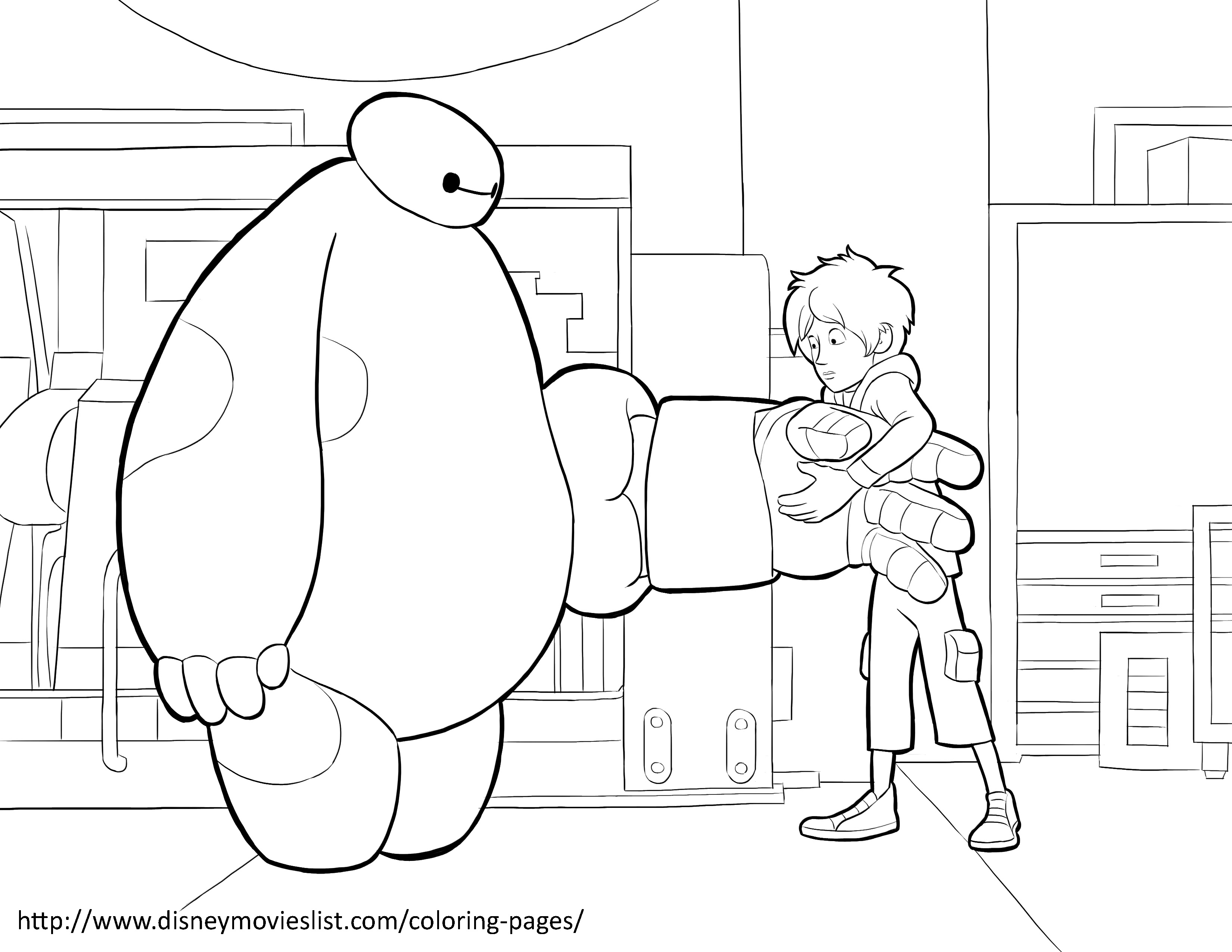 3300x2550 Baymax Is Trying To Fit Baymax With New Armor! Free Coloring Sheet