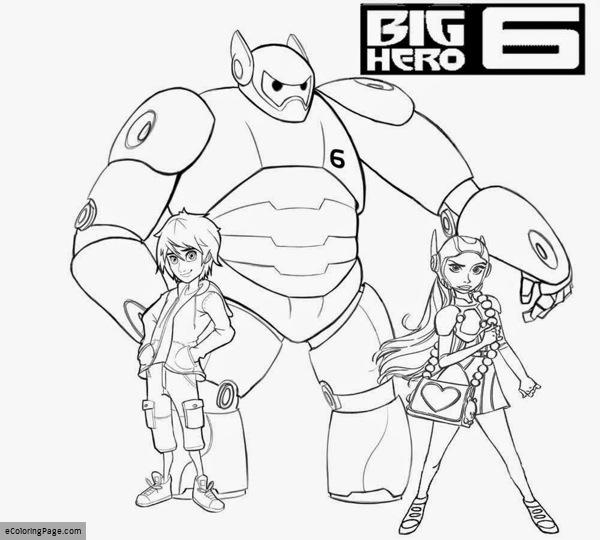 600x540 Big Hero Coloring Pages Printable Coloring