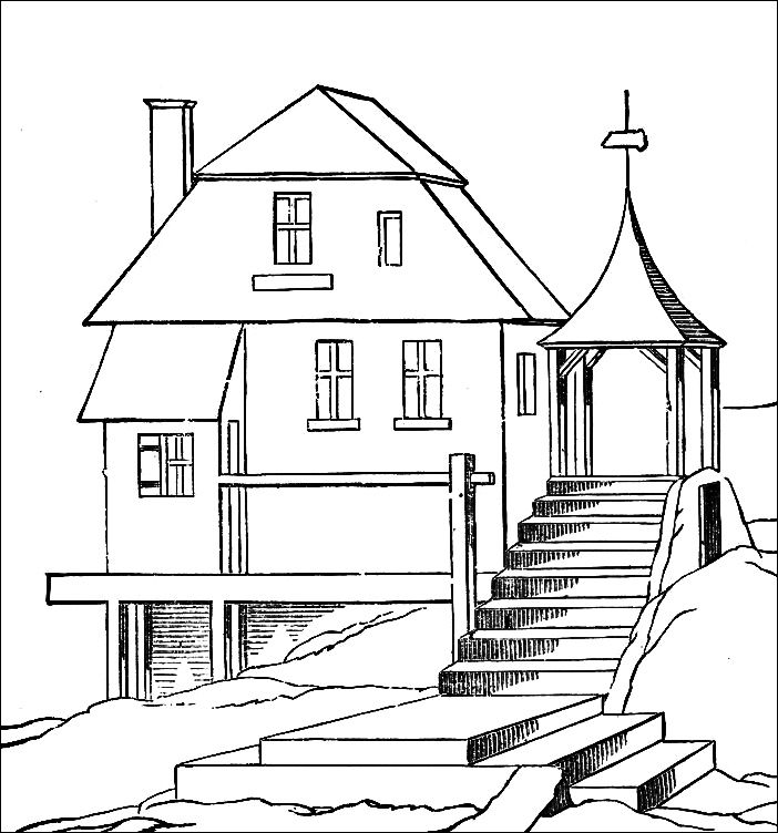 Big House Coloring Pages