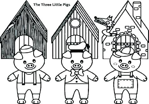 476x333 Coloring Pages For Adults Printable The Three Little Pigs Big