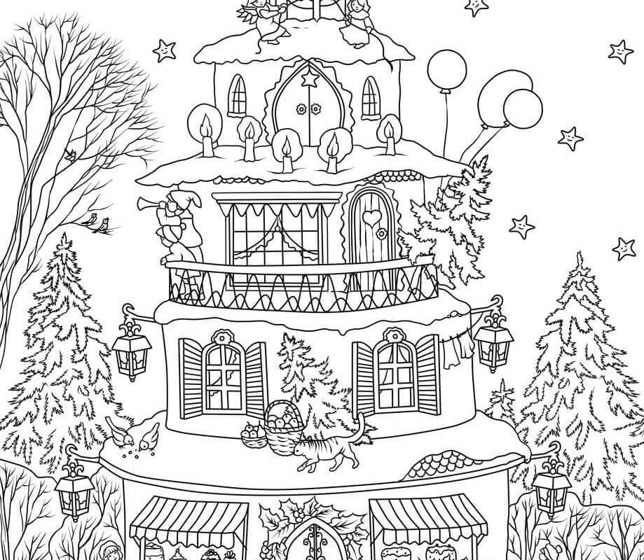919x800 Free Printable Gingerbread House Coloring Pages Christmas Coloring