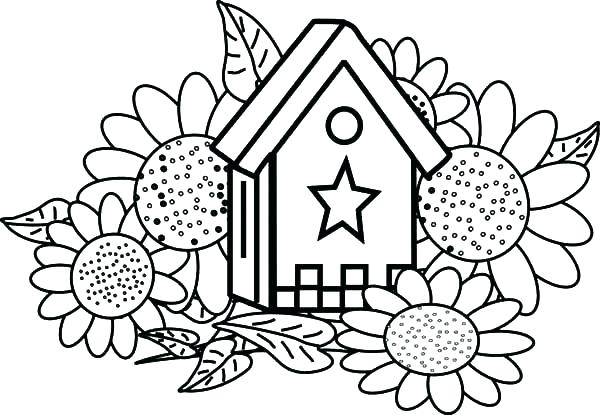 600x415 Sunflower Coloring Pages