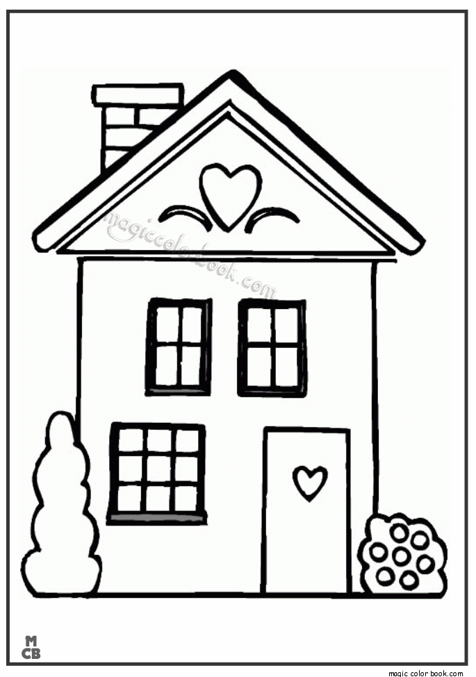 685x975 Big House Cartoon Printable Coloring Pages