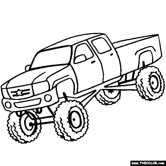 Big Rig Coloring Pages