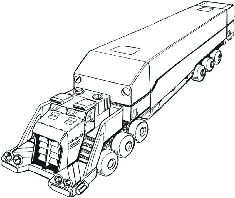 800x673 Big Rig Truck Coloring Pages