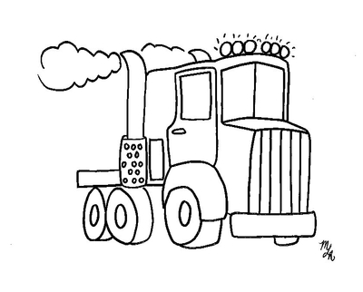 400x322 Mack Big Rig Coloring Pages Truck Page Crayon Action