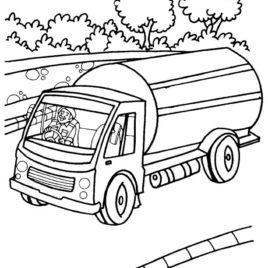 268x268 Milk Tank Truck Coloring Page Download Free Milk Tank Truck
