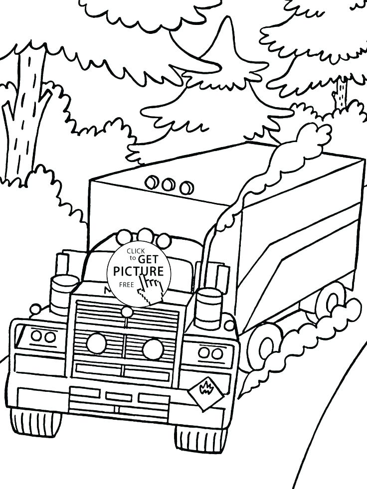 736x981 Vehicle Coloring Pages Army Truck Coloring Pages Big Rig Truck