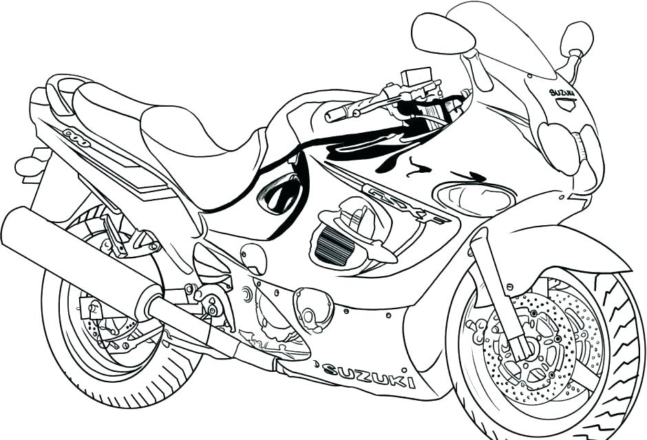 940x639 Big Rig Coloring Pages