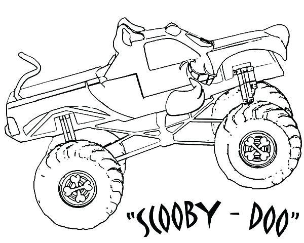 600x480 Big Monster Truck Coloring Pages Plus Monster Truck Coloring Pages