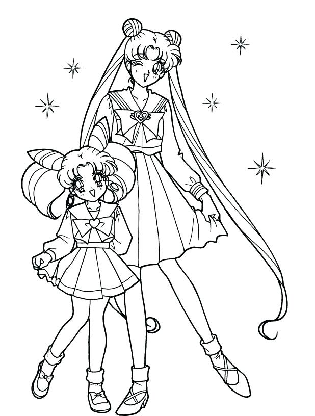618x816 Big Sister Coloring Pages Sailor Moon With Sister Coloring Pages
