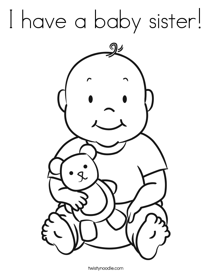 685x886 Coloring Big Sister Little Brother Coloring Pages