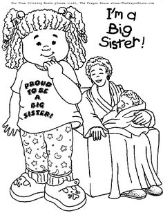 236x308 Big Sister Coloring Pages Printable Color Bros