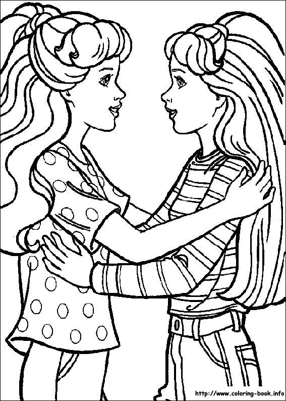 567x794 Barbie Coloring Picture