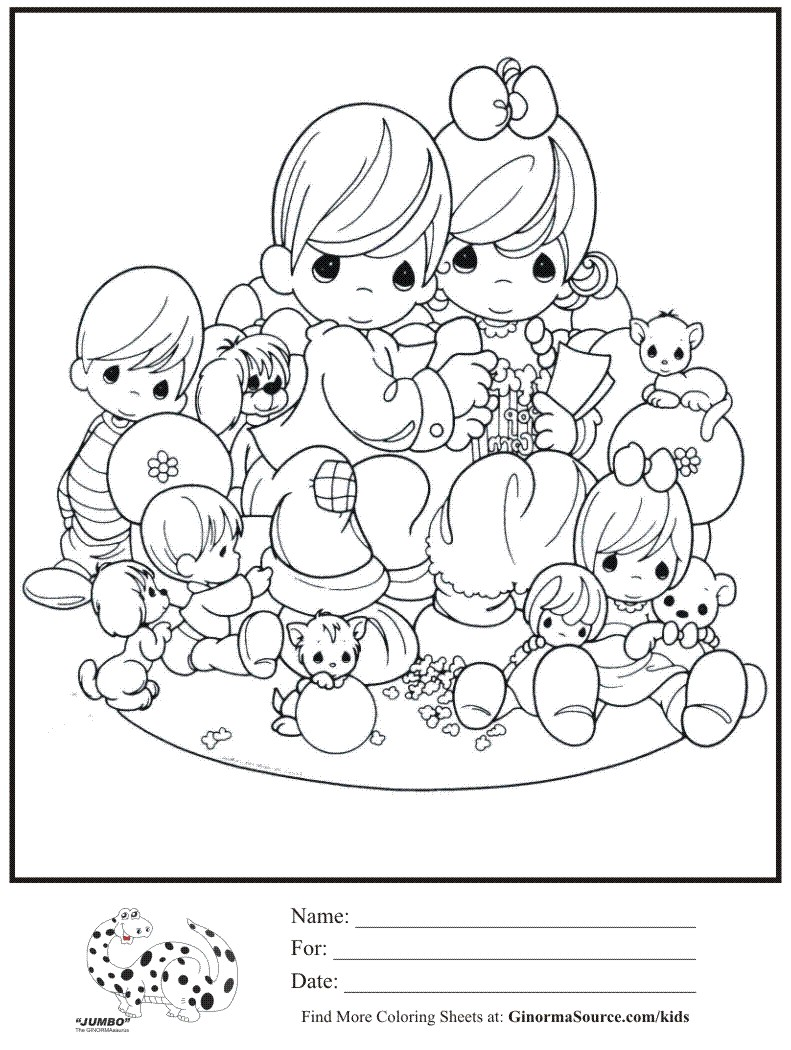 791x1050 Precious Moments Coloring Pages For Fancy Draw Printables Sisters