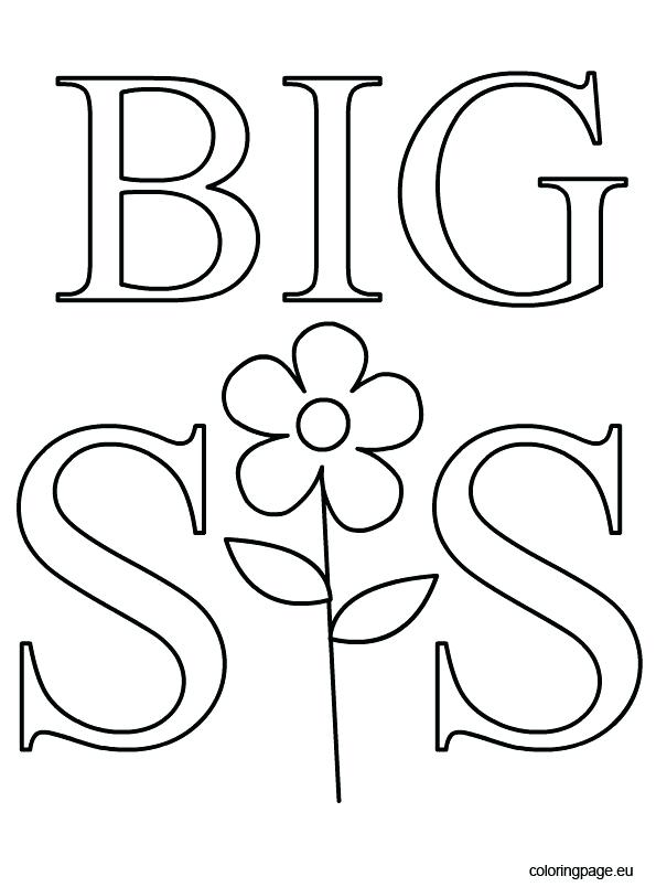 595x804 Big Sister Coloring Pages