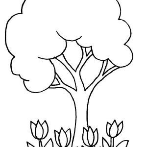 300x300 Big Tree On Arbor Day Coloring Pages Best Place To Color