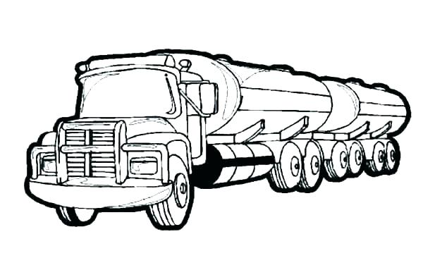 600x383 Coloring Pages Truck
