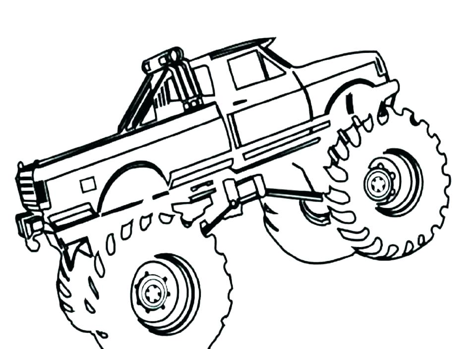 940x705 Truck Coloring Page
