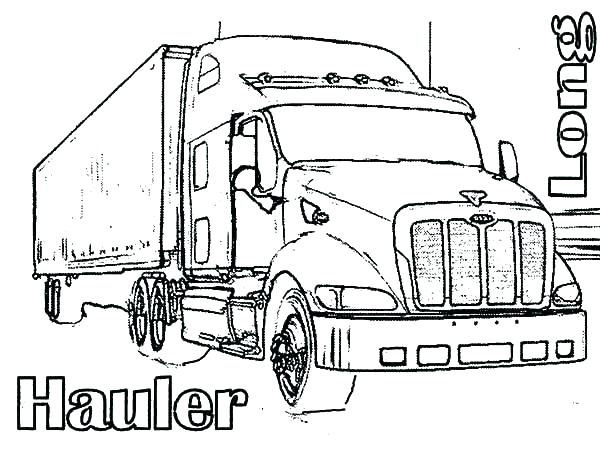 600x464 Big Rig Coloring Pages Semi Truck Drawing Coloring Page Big Rig