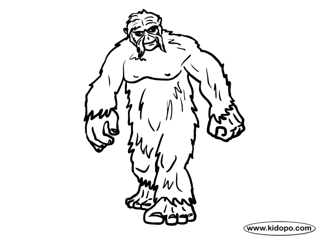 Bigfoot Coloring Pages At Getdrawings Free Download