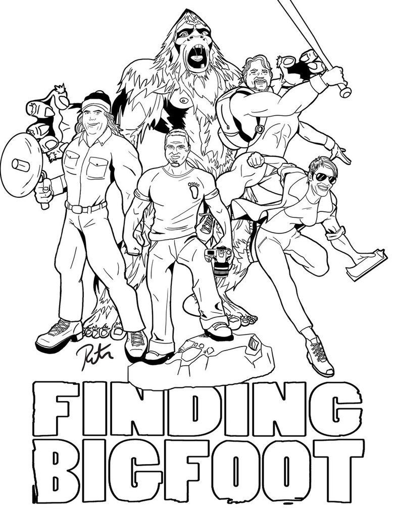 786x1017 Finding Bigfoot Coloring Pages Coloring Home Wurzen