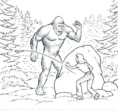 400x380 Tasty Bigfoot Coloring Page Coloring Page