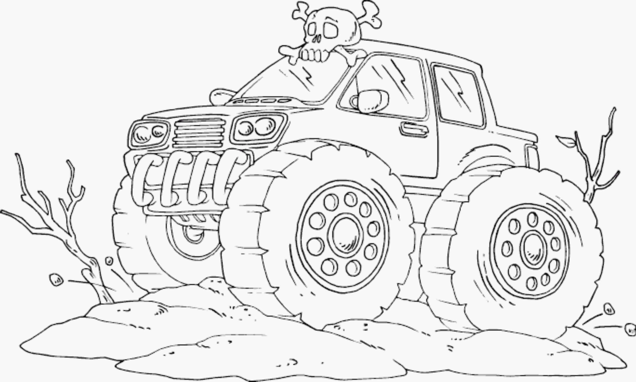 2551x1532 Bigfoot Monster Truck Coloring Pages