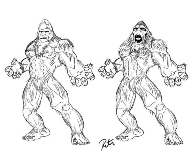 665x527 Bigfoot Coloring Pages Discover All