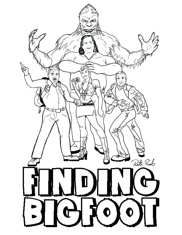 600x776 Bigfoot Coloring Pages Appealing Coloring Pages Fee Colouring Page