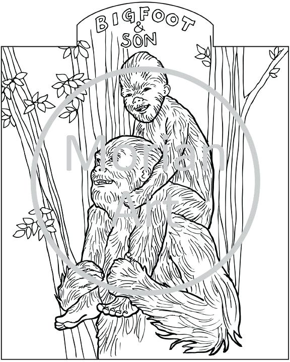 576x720 Bigfoot Coloring Pages Back To Post Printable Bigfoot Coloring