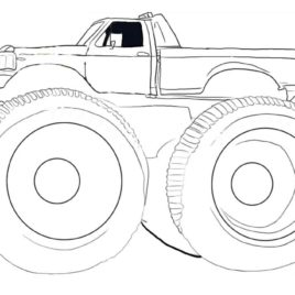 268x268 Bigfoot Monster Truck Coloring Page Archives