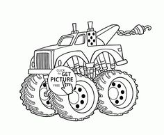 236x194 Bigfoot Monster Truck Coloring Page For Kids, Transportation
