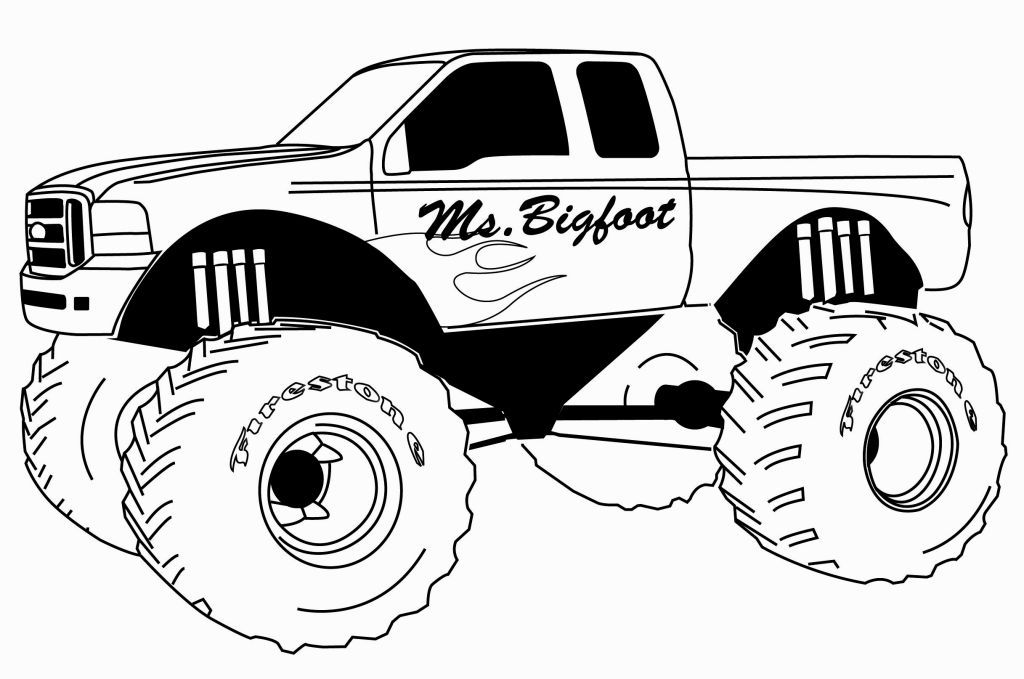 1024x679 Monster Truck Coloring Page Coloring Pages Monster