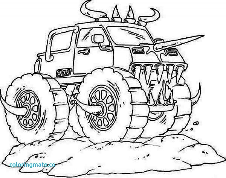 960x756 Monster Truck Coloring Page Awesome Monster Truck Coloring